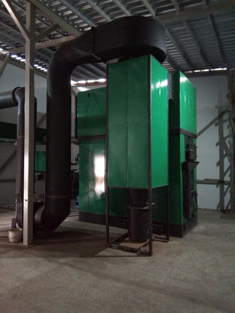 Циклонная установка на базе водогрейного котла мощностью 750 кВт (КВУ-750)
