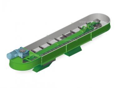 Скребковый транспортер серии ТСК, производства котельного завода «Автоматик-Лес»